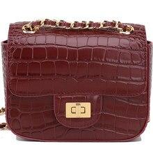 Маленькая квадратная сумка из крокодиловой кожи, маленькая сумка с ароматной цепочкой, Женская мини-сумка на одно плечо, сумка-мессенджер