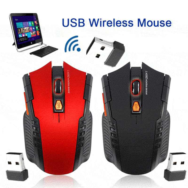 Professional 2.4GHz Wireless Optical Gaming Mouse Wireless Mice for PC Gaming Laptops Computer Mouse Gamer with USB Receiver