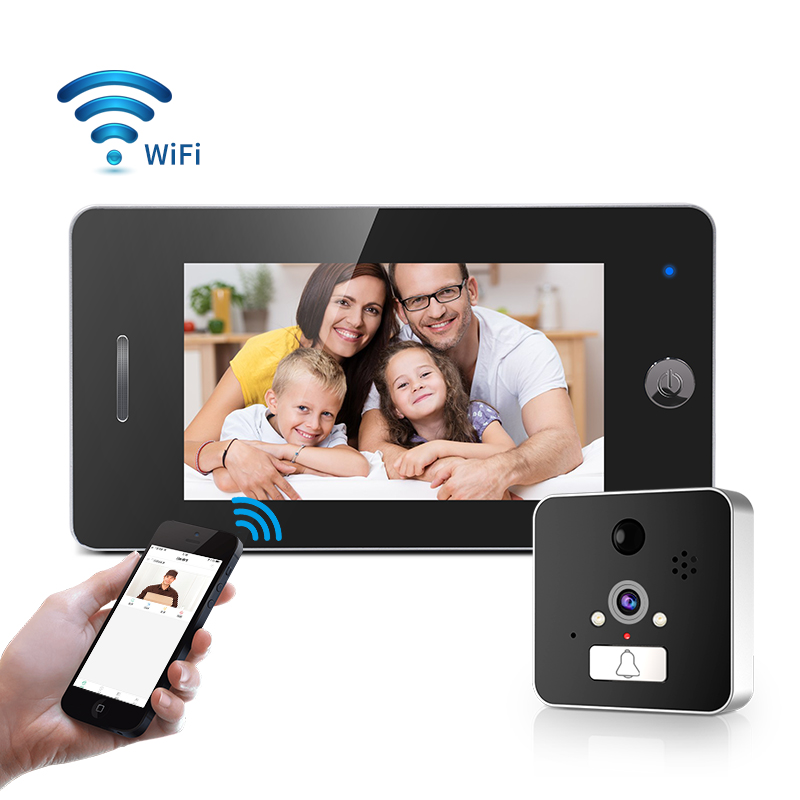 WIFI Peephole Camera 4.3 Inch HD Intelligent Door Viewer Camera Monitor Support PIR Monitor Detector And Night Vision Function