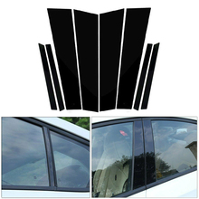 8pcs/Set BC Pillar Cover Door Window Black Trim Strip for Honda Civic Sedan 2012 2013 2014 2015 New Styling Sticker Accessories
