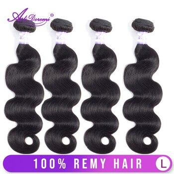Alidoremi Brazilian Body Wave Hair 4 Pcs Human Hair Bundles Remy Hair Extention Natural Color Free Shipping
