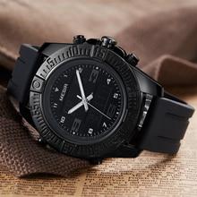 цена MEGIR Dual Display Men Watch Fashion Silicone Analog Sport Watches Army Military Quartz Wristwatch Clock Hour Relogio Masculino онлайн в 2017 году