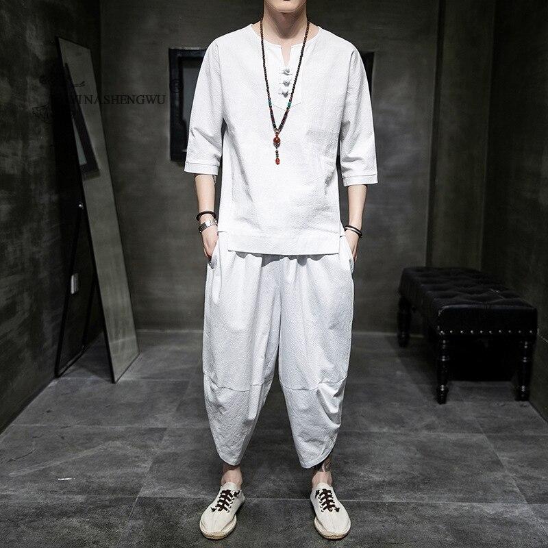 Details about  /Anime Unisex Short Sleeve Topp Pants 2Pcs Outfit Cosplay Uniform Suits mt00