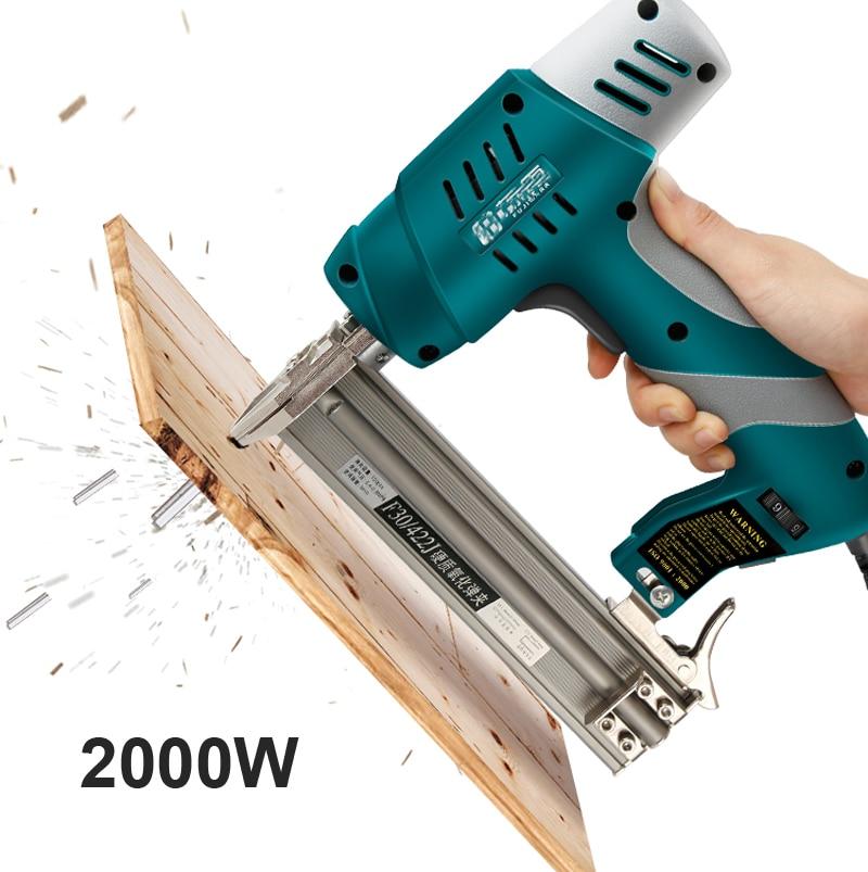 Dual-Purpose Electric Nail Gun F30 Straight Tools Nail Ejection Device Nail Stapler Shooter
