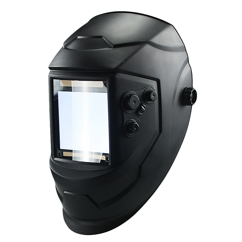 Large Window 4 Sensors External Adjustment Din 5-Din 13 Solar Automatic Dimming Welding Mask Helmet