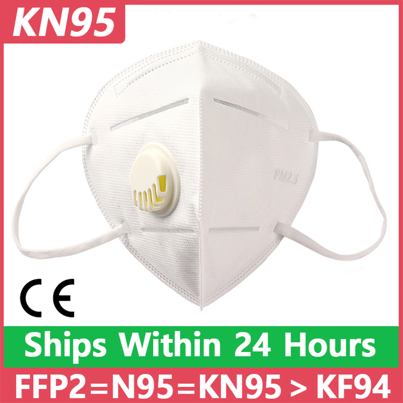 KN95 Disposable Face Masks N95 Protective Filter Mouth Respirator Dust Mask Flu Facial Template Ffp2 Ffp3 Kf94 Pm2.5 Mouth Cover