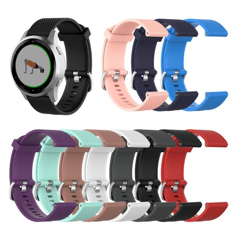 Wristband Band Strap For Garmin Vivoactive4S Women Soft Rubbe Strap Men Watch Band For Garmin Vivoactive 4S Smart Watch Strap