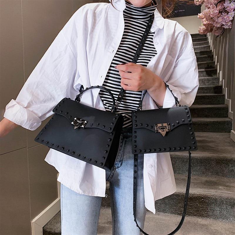 Clear PVC Luxury Handbags Women Bags Designer 2019 Sac A Main PU Leather Crossbody Messenger Bags For Women Shoulder Bag W431