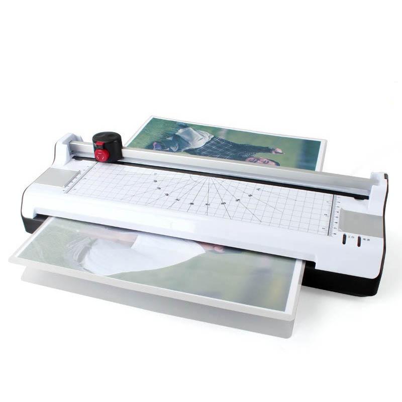 A3 Photo Laminator Hot And Cold Paper Film File Heat Machine Fine-tuning Glue Machine With Cutting Function Three Cutting Way