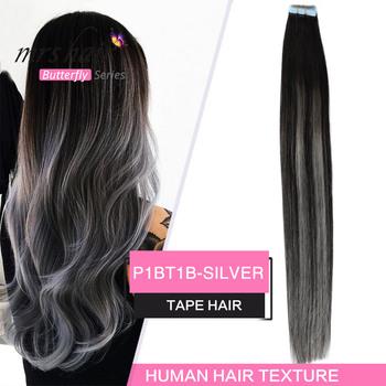 MRSHAIR Balayage taśma w przedłużanie włosów skóra wątek Pu maszyna do włosów Remy Ombre włosy na taśmie prosto Tone włosy 14 #8222 18 #8221 20 #8243 tanie i dobre opinie 2 g sztuka Tape Hair Ombre Los Ángeles Nie remy włosy