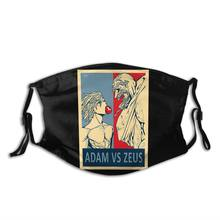 Masque buccal réutilisable avec filtres, dessin animé de Ragnarok, Adam Vs Zeus, couverture de Protection de la bouche, brume antibactérienne