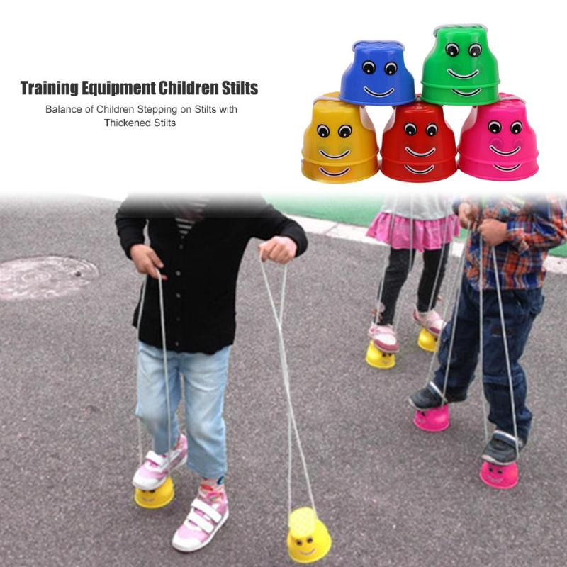 2pcs/set Stilts Toys Hot Selling Simple Durable Bright Colors Balance Sense Training Kids Outdoor Games Thickened Jumping
