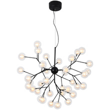 цены Post Modern Dia.65cm LED Chandelier Light Firefly Tree branch glass shade Nordic Art creative Bjornled G4 led bulb hanging lamp