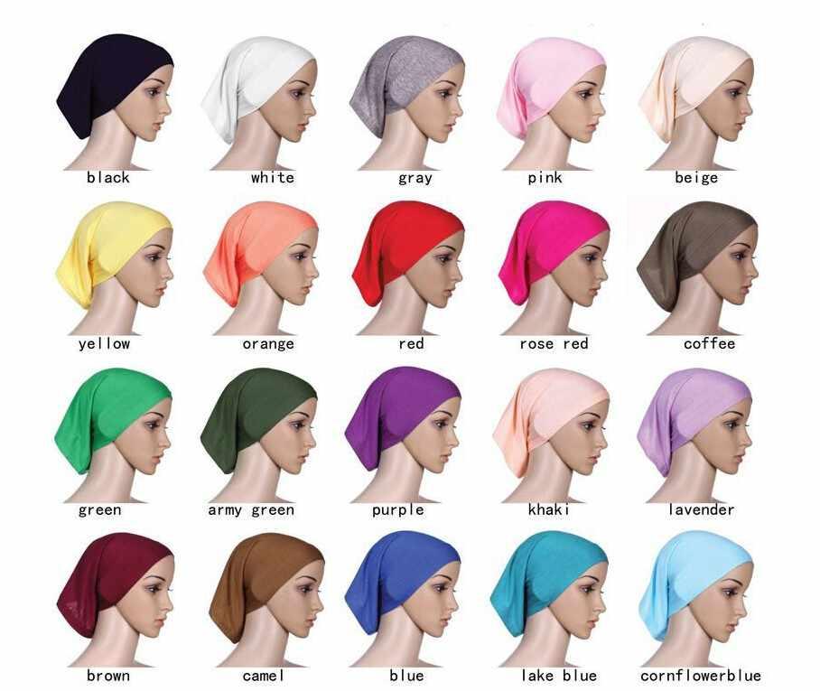 2019 Muslim Jilbab Pendek Hijab untuk Wanita Dalam Cape Islam Jilbab 25 Warna Dalam Stok