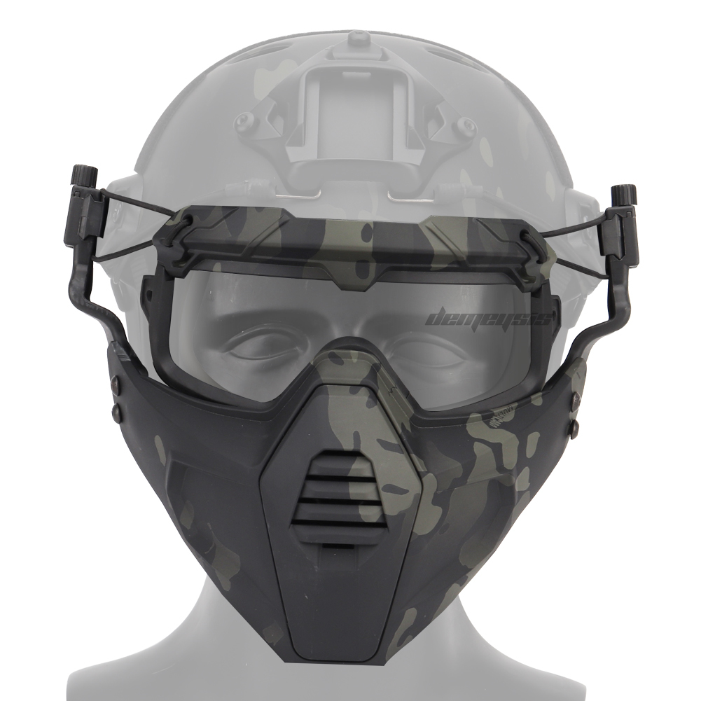2pcs Set Military Airsoft Mask Goggles Protective Shooting Paintball Mask & Goggles Army Tactical Combat Masks Goggles