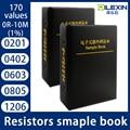 0201 0402 0603 0805 1206 1% FR-07 SMD SMT Chip Resistor Assortment Kit 170 Values 0R-10M Sample Book