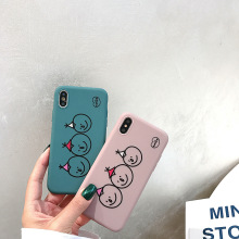 IMIDO New Cute Happy Face Fashion For iphone XR Cover 7 Case Soft Silicone 6/7/8/X /Xs/ Xsmax/Xr