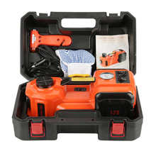 Car Jack Lifting Cranes 12V 5T 3 in 1 Electric Hydraulic Car Jack Set With Impact Wrench Safe Hammer Lifting Tools