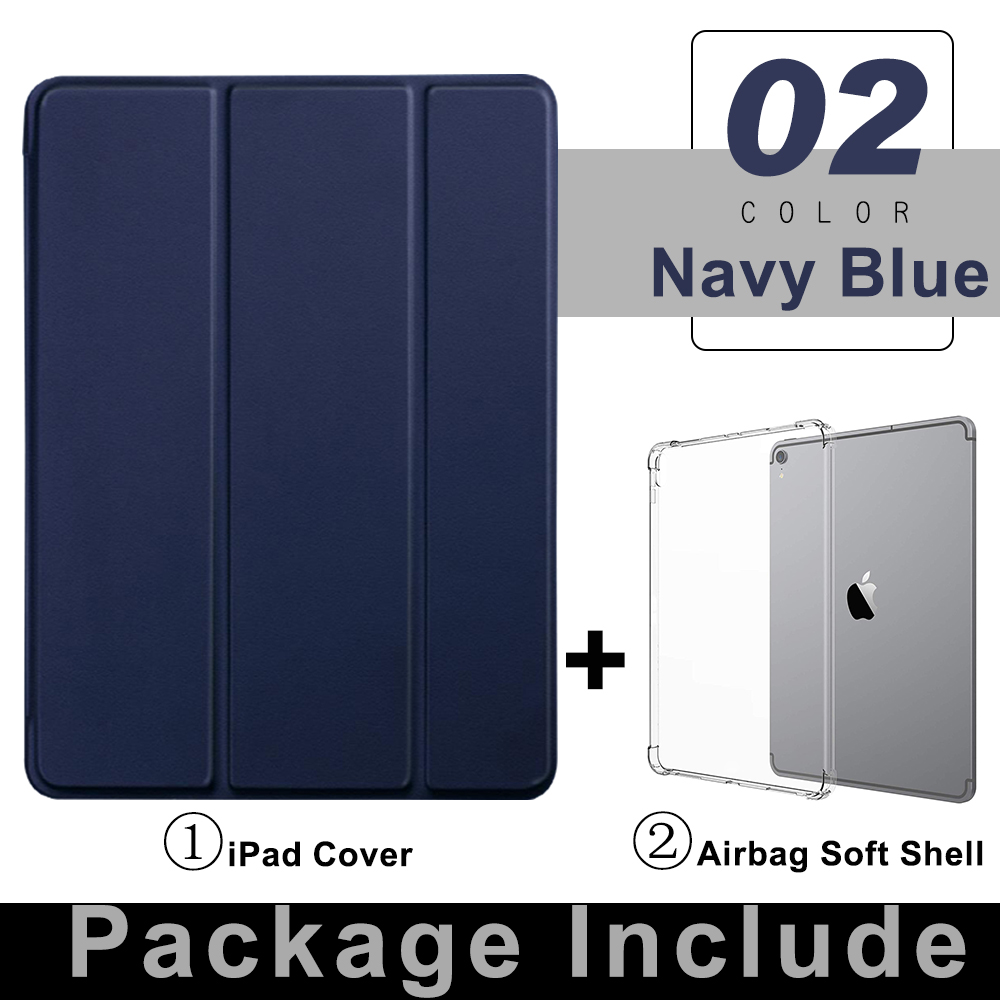 3 Navy Blue Gray For iPad Pro 11 Flip Tablet Case 2021 Stand Smart Cover Funda For iPad pro 11