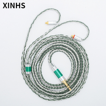 24 Strands Silver Plated Copper Earphone Cable MMCX/0.78mm 2 Pin/QDC/TFZ HIFI Headphone Upgrade Cable For SE535 UE900S