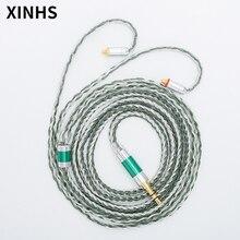 24 ipliklerini gümüş kaplama bakır kulaklık kablosu MMCX/0.78mm 2 Pin/QDC/TFZ HIFI kulaklık yükseltme kablosu SE535 UE900S