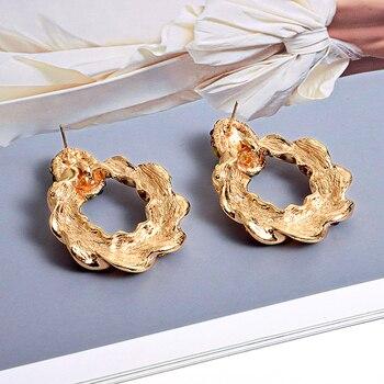 Gold Metal Rhinestone Crystal Drop Earrings  2