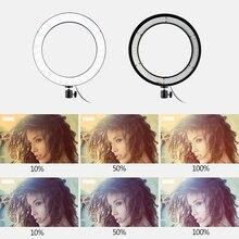 Зеркало света кольцо лампа мобильный телефон в реальном времени заполняющий свет красота само-Кольцо Таймер живой свет