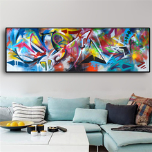 MUTU Colorful Graffiti Oil Abstract Painting Canvas Prints for Wall Art Picture Living room Modern Home Decor Free Shipping