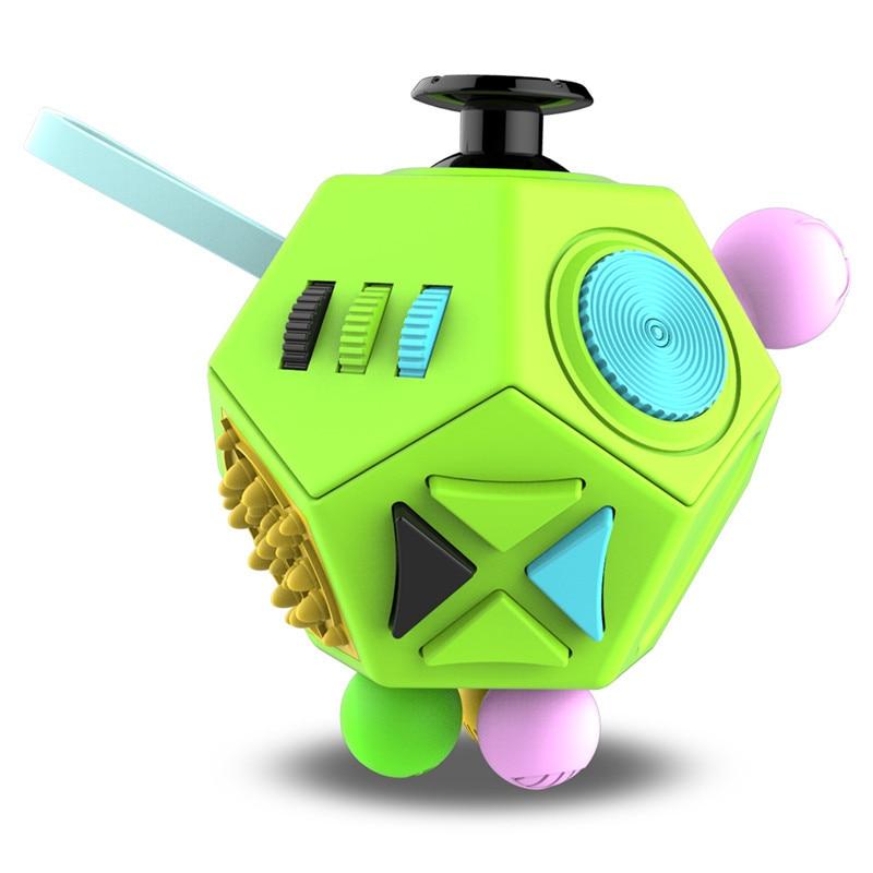 Edc mão para o autismo tdah ansiedade alívio foco crianças 12 lados anti-stress magia estresse brinquedos 38