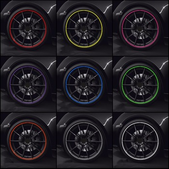 NEW 8M/ Roll New Styling IPA Rimblades Car Vehicle Color Wheel Rims Protectors Decor Strip Tire Guard Line Rubber Moulding Trim image