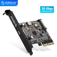 ORICO Typ USB C PCI-Express zu USB 3,2 20Gbps PCI-E Express Expansion Karte Adapter mit ASM3242 Chipset für windows 8/10/Linux