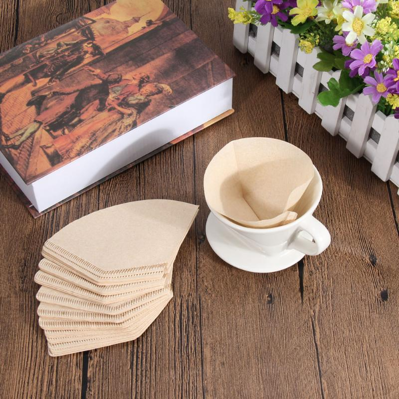 40Pcs Coffee Paper Filter For 101 Coffee Hand-poured Coffee Filter Drip Cup Kitchen Coffee Accessories