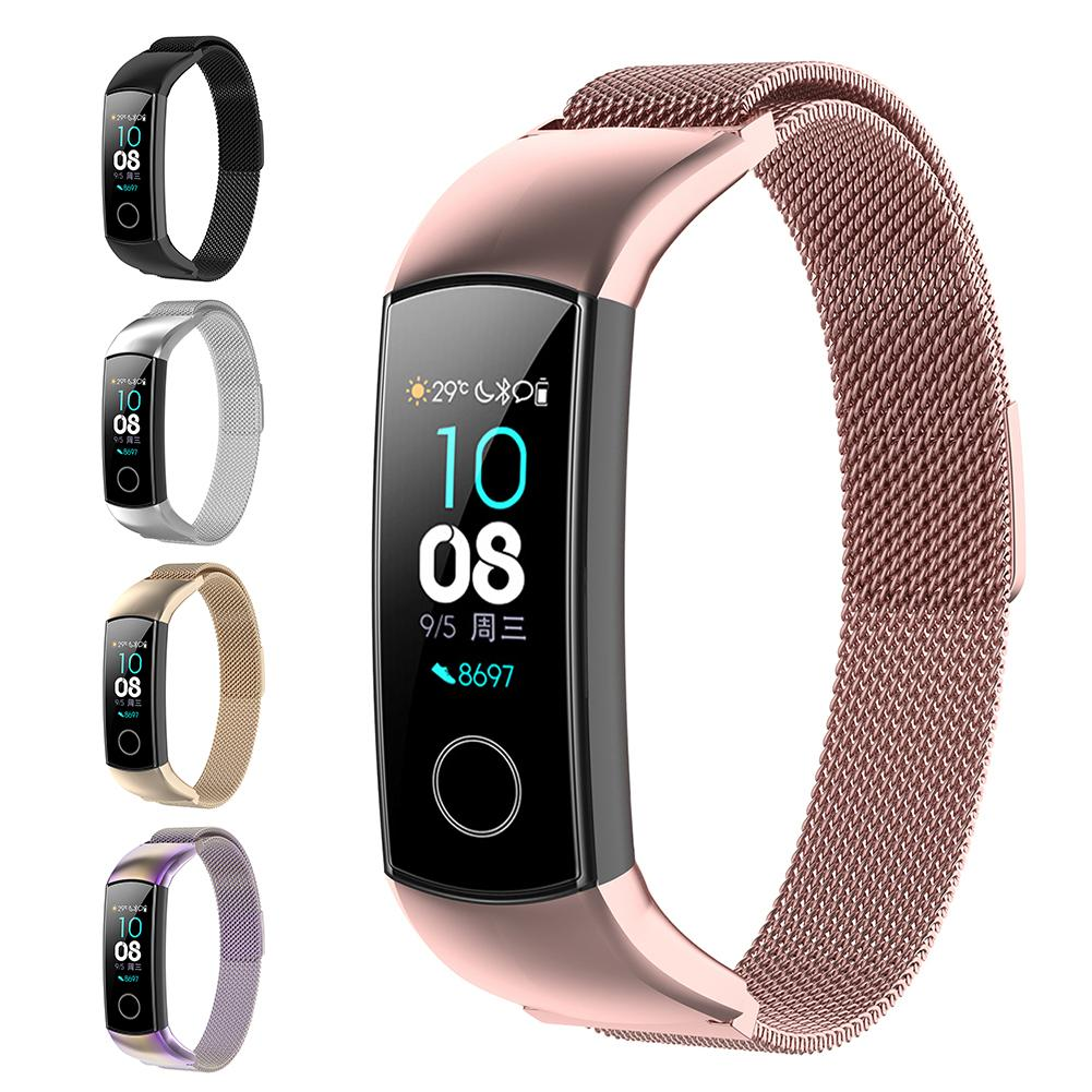Milanese Metal Strap For Huawei Honor Band 4 /5 Strap Wristbands Stainless Steel Bracelet Smart Watch Bracelet Accessories