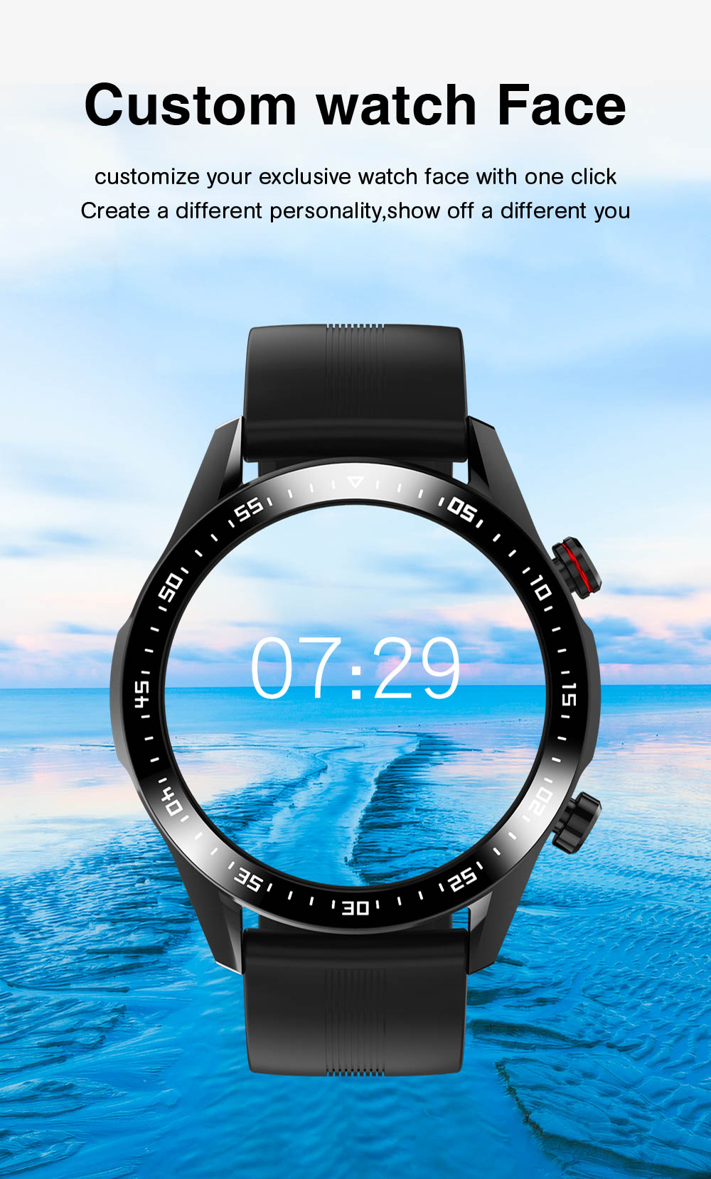 Hd344a547a3dd4a889e11a0cb7acac129y E1-2 Smart Watch Men Bluetooth Call Custom Dial Full Touch Screen Waterproof Smartwatch For Android IOS Sports Fitness Tracker