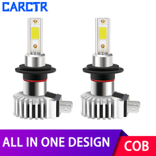 All In One LED Headlight Bulbs for Car H1 H3 H7 Led Lamp 9005 9006 9012 880 H8/H9/H11 Bulbs 6600LM IP68 30W COB 6000K Car Lights 2pcs lot h1 h3 h4 h7 cob led for c6 car headlight bulbs chip h11 880 9005 9006 9012 cob light source replace c6 auto headlamps