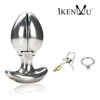 Anal Lock Stainless Steel Plug Sex Toy For Woman and Manl,Anal Dilator With Keys,Openable Plugs Heavy Anus Beads