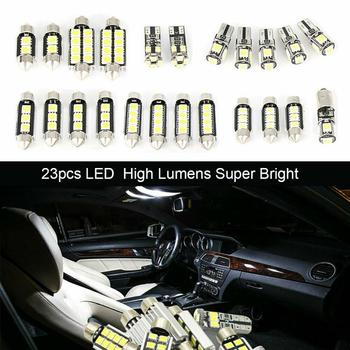 New Universal 23Pcs LED T10 5050 Car Light Bulb Interior Dome Trunk License Plate Lamps Kit White For Bmw E90 E60 F10 F30 image