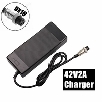 42V 2A lithium battery electric bicycle charger for 36V electric scooter 3 Prong Inline Connector 3P GX16 Plug high quality|Chargers| |  -