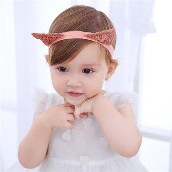 Cute Cat Ear Hairband Delicate Lace Children Hair Accessories Headband Fashion Cute Lace Hair Hoop Headbands Jewelry цена 2017