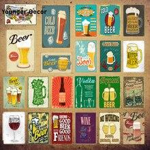 Cerveza fría Vodka signos Bar tienda placas de metal decorativas Vintage tablero publicitario para Pub Club hogar pared arte decoración YI-205