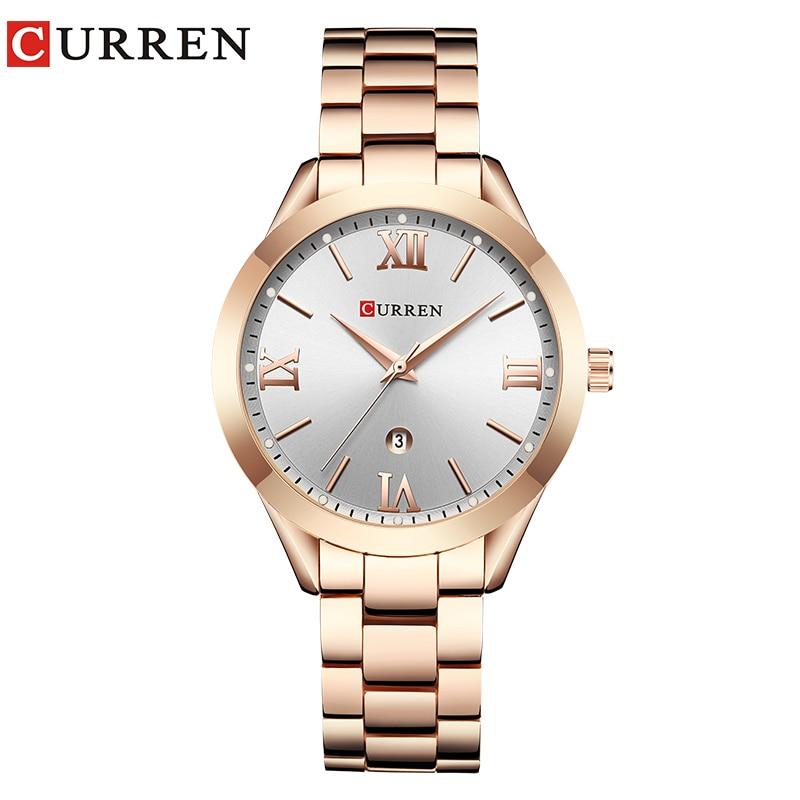 CURREN Gold Watch Women Watches Ladies Creative Steel Women's Bracelet Watches Female Clock Relogio Feminino Montre Femme 8