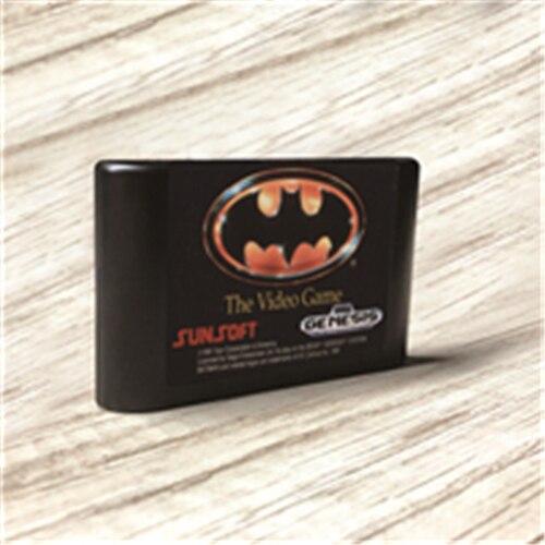 وحدة تحكم ألعاب الفيديو Batmaned   USA ، ملصقات ، MD ، ذهبي ، PCB ، بطاقة Sega Genesis ، Megadrive