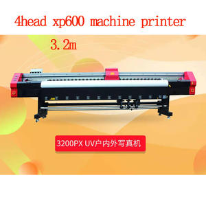 Flex-Banner-Sticker Eco-Solvent-Printer Xp600 Printing-Machine From-China 4head 10feets