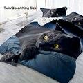 2/3 шт.  3D Черный кот  постельное белье  пододеяльник  наволочка  чехол  постельное белье  Декор  удобные постельные комплекты  Twin Queen  King Size