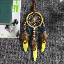 Indian Style Handmade Weave Dream Catcher Feather Bead Hanging Ornament hanging Home Wall Decoration Gift For Graduation