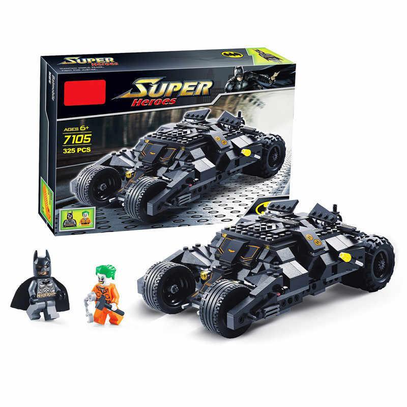 Modelo de Blocos de Construção de Super Herói Batman e Coringa Batwing Legoings Jogo Do Brinquedo Tijolos para Crianças Menino