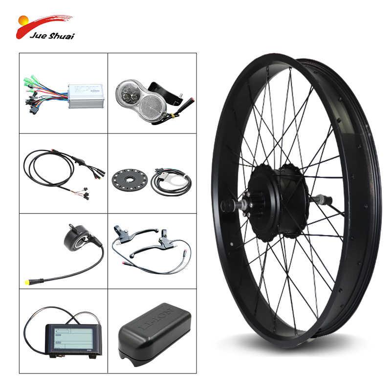LCD Tire Theebikemotor 48V1000W Hub Motor EBike Bicicleta EL/ÉCTRICA KIT DE CONVERSI/ÓN 4.0 Fat Rim