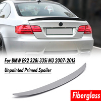 Rear Trunk Boot Lid Spoiler Wing Primer Grey Fiberglass Auto Replacement Parts Fit For BMW E92 328i 335i M3 2007 2013