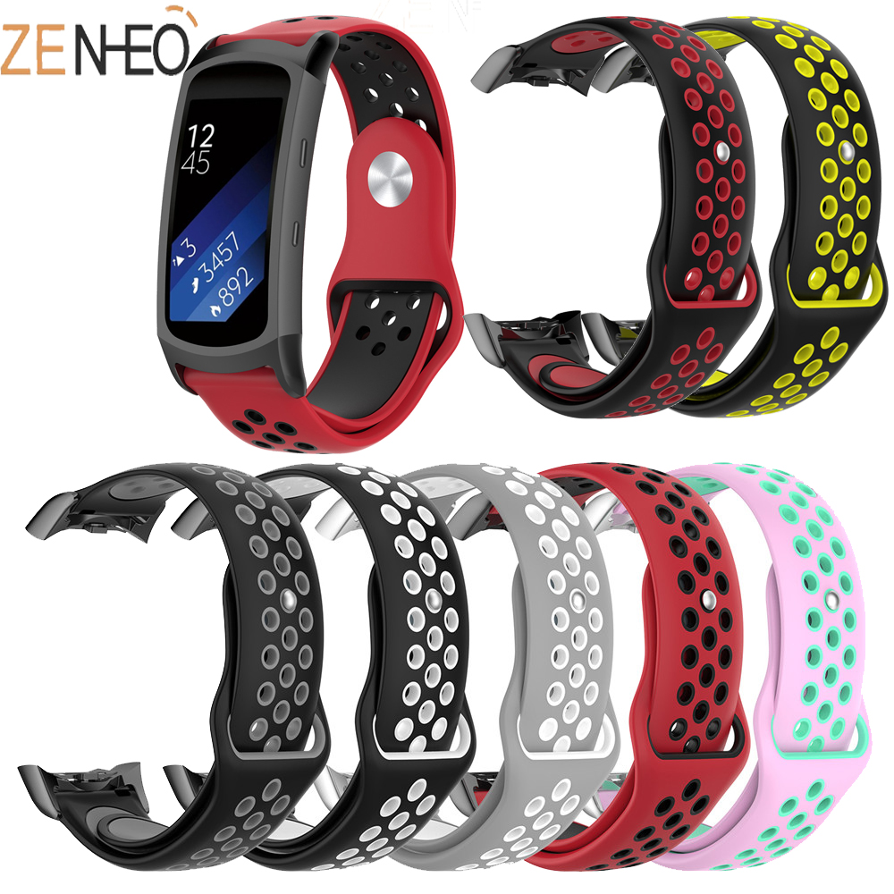 New Double Color Silicone Strap For Samsung Gear Fit 2 For Samsung Gear Fit2 Pro Sport Band Replacement Bracelet Watch Strap