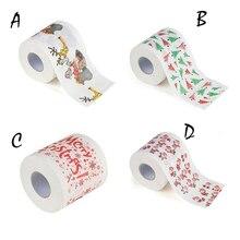 Рулон туалетной бумаги с рождественским рисунком для ванной комнаты